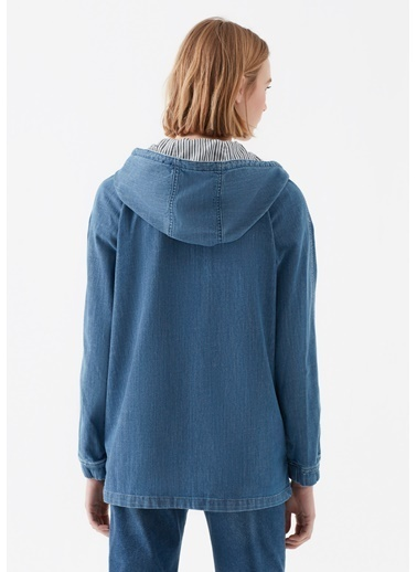 Mavi Kapüşonlu Denim Ceket İndigo